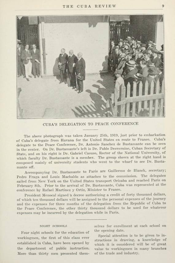 1919-The Cuba Review-Cuba Delegation to Peace Conference