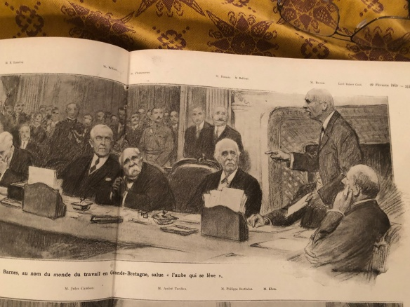 1919-01-L Illustration-Barnes au nom du monde du travail en Grande-Bretagne salue l aube qui se leve