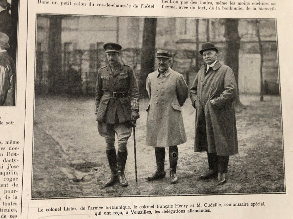 1919-05-03-Colonel Lister Colonel Henri et Oudaille attendent les delegations allemandes
